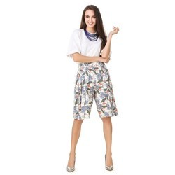 Floral Print Ladies Shorts