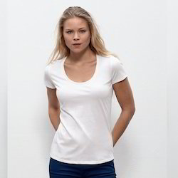 GOTS Certified Organic Cotton White Round Neck T Shirts