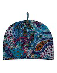 Kantha Work Paisley Blue Heat Insulation Cotton Tea Cosy