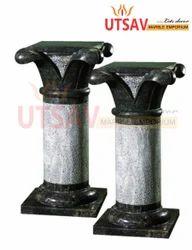Pair Marble Pillars