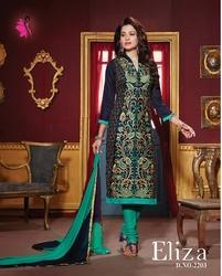 Embroidery Churidar Suit