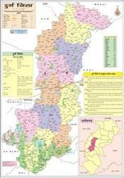 Map Of Durg District Of Chhattisgarh