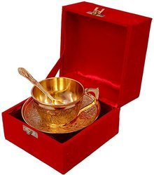Silver & Gold Plated Mix  2 Cup Plate