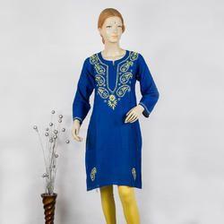Chikan Hand Embroidered ladies kurti