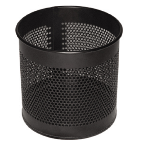 Black Color Coated MS Dustbin