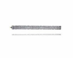 14K Gold Lock Diamond Bracelet
