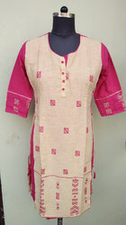 Khadi Embroidered Kurtis
