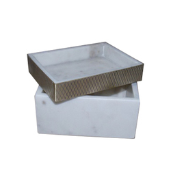 Marble & Metal Tray Boxes