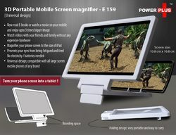 3D Portable Mobile Screen Magnifier (Universal Design)