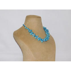 Blue Pottery Necklace