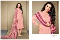Collar Neck Pink Alina Salwar Suit Fabric