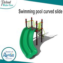 Swimming Pool Curved Slide