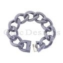 Three Diamond Link Chain Bracelet