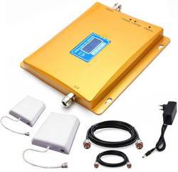 High Quality 2G&4G Dual Band Mobile Phone Signal Booster Coverage Area 1200 Sq-ft for All Network