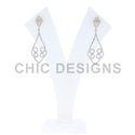 Gold Pave Diamond Designer Earrings