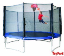 16FT. Trampoline With Basketball Hoop (PI 550)