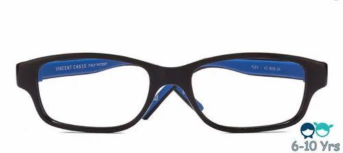 58584236a4f Kids Eyeglasses - Black   Blue Full Rim Rectangle Kids Eyeglasses ...
