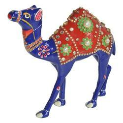 Metal Camel With Stone Work
