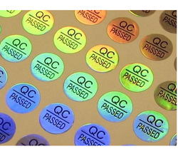 Q.C. Checked Holographic Labels
