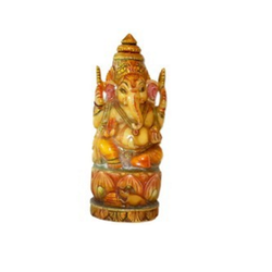 Resin Culture Marble Antique Ganesha Statue