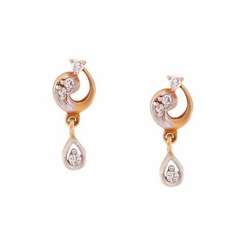 Tanishq Diamond Earrings