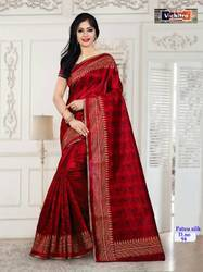 Disgner Amazing Silk Saree With Lace Boder
