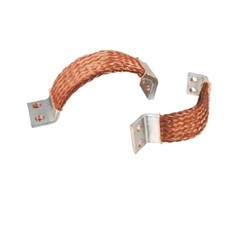 Braided Copper Flexible Connector With Silver Plated Ends