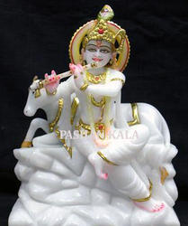 Handcrafted Marble Krishna Statue