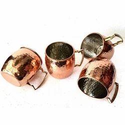 Copper Hammered Mule Mugs