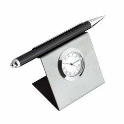 Pen Holder Cum Table Watch