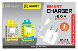 Troops TP-213 3.4 AMP 2 USB Square Adapter