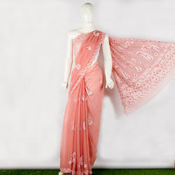 Chikan hand Embroidered ladies saree