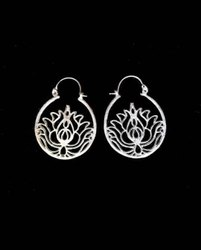 Brass Earring with Silver Finishing