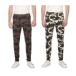 Lt Blue Cotton Clifton Mens Army Printed Joggers