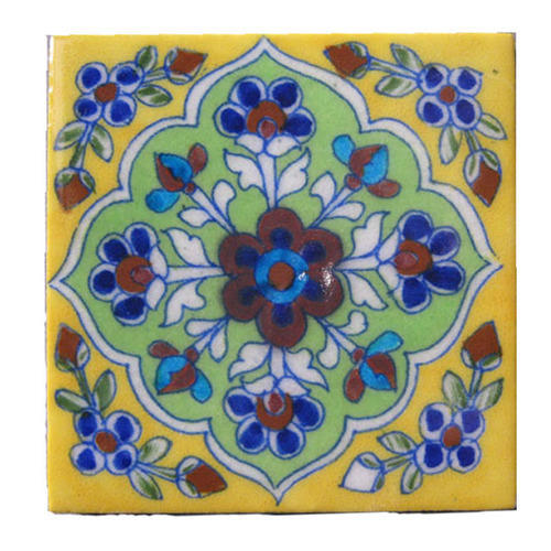 Handmade Jaipur Blue Pottery Tiles Online Traditional Art Hand Painted Exporter From