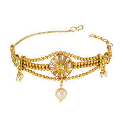 Antique Gold Plated Classic Baju Band - 14831