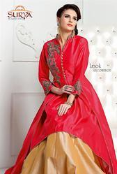 Designer Indo- Western Long Coat Gowns And Lehenga