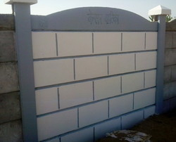 RCC Pasted Boundary Wall