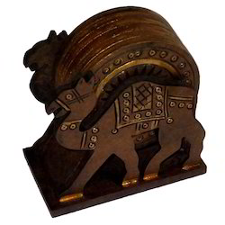 Wooden Camel Coaster Set