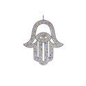 Multi Sapphire Hamsa Pendant