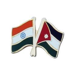 Twin Flag Lapel Pin