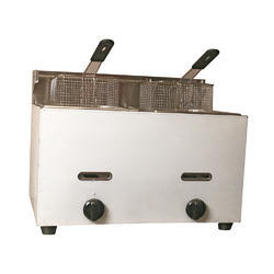 Double Deep Fat Fryer Table Top Gas