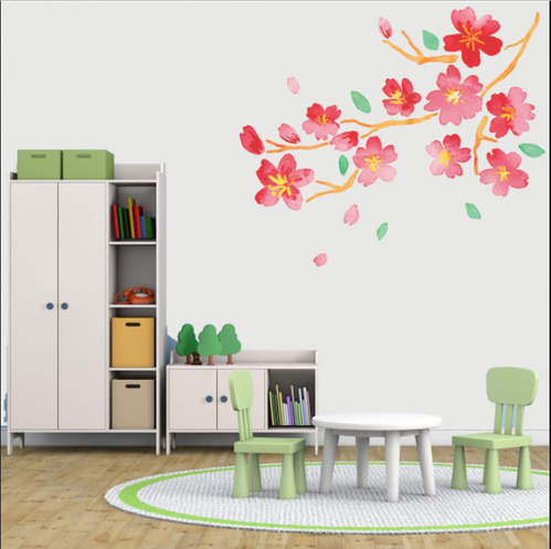 wall art decor - natural flowers wall sticker service provider from