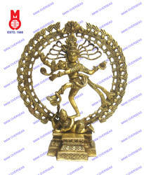 Natraj Dancing W/ Dragon On Top Statue