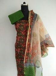Block Printed Chanderi Suits