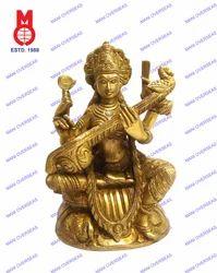 Goddess Saraswati Sitting On Swan Statues