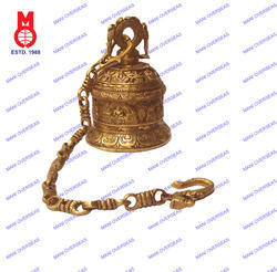 Temple Bell With 5 Buddha & Chain
