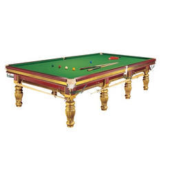 Snooker Table with Gold Polish
