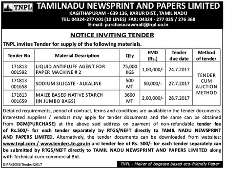 a study on tamil nadu newsprint