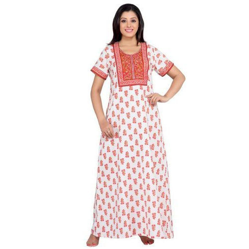 986f136d2c Ladies Night Dress - Ladies Embroidered Nighties Manufacturer from Tiruppur